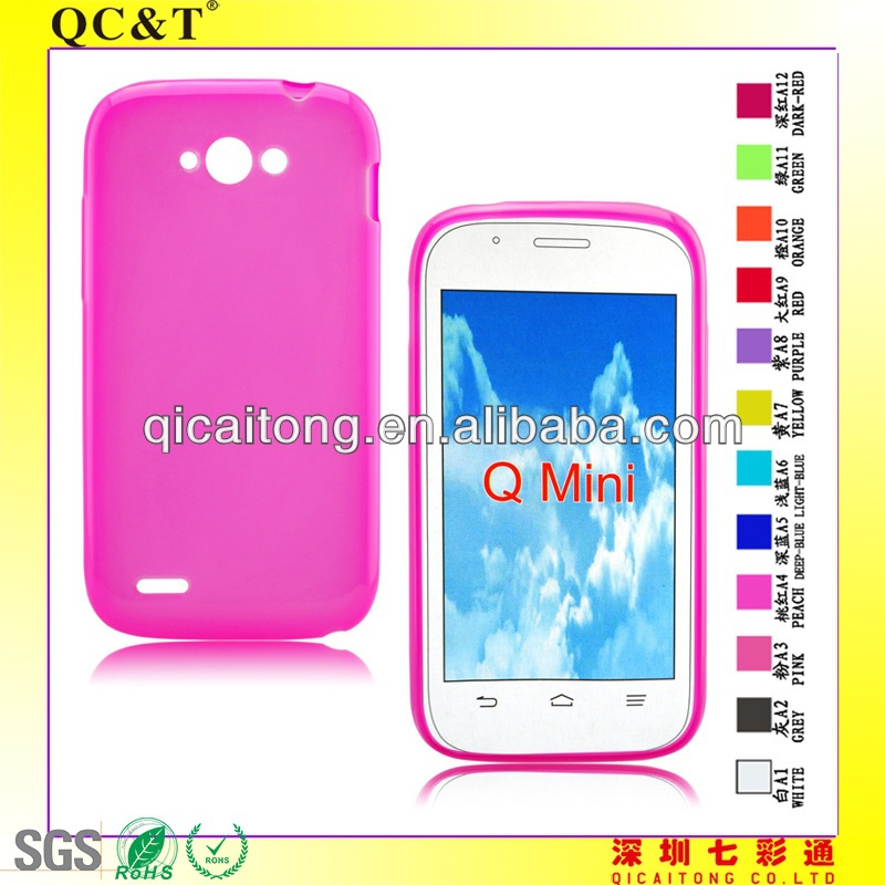 QC&T mobile phone inner scrub tpu case for ZTE BLADE <strong>Q</strong> MINI