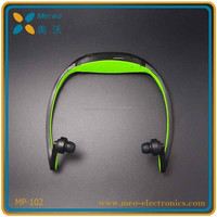 2015 Sport Wireless Headphones Music Mp3 Player with fm radio