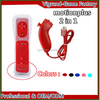 Motion Remote and Nunchuk Controller For Wii red color