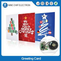 White 3D Music greeting card, Card Greeting Card with hot stamp