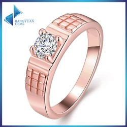 JYSZR0298 8# Dubai Rose Gold Plated ring designs