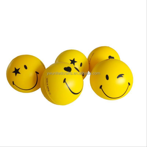 2018 New Lovely Smiley Face PU Stress Ball With Logo Printing