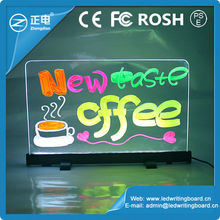 Neon Effect LED Mini Fluorescent Writing Board For Advertising With 2 Different Size
