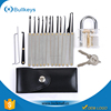 Bullkeys locksmith supplies Transparent Practice Padlock+12pcs tools to open locks for Locksmith LP0045