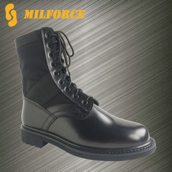 wholesale light weight cheap durable outdoor safety leather black army shoes