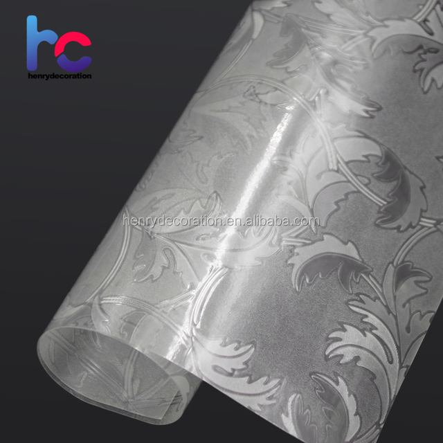 Good Quality Embossed Frosted Static Cling Patterned Smart Korea Window Film