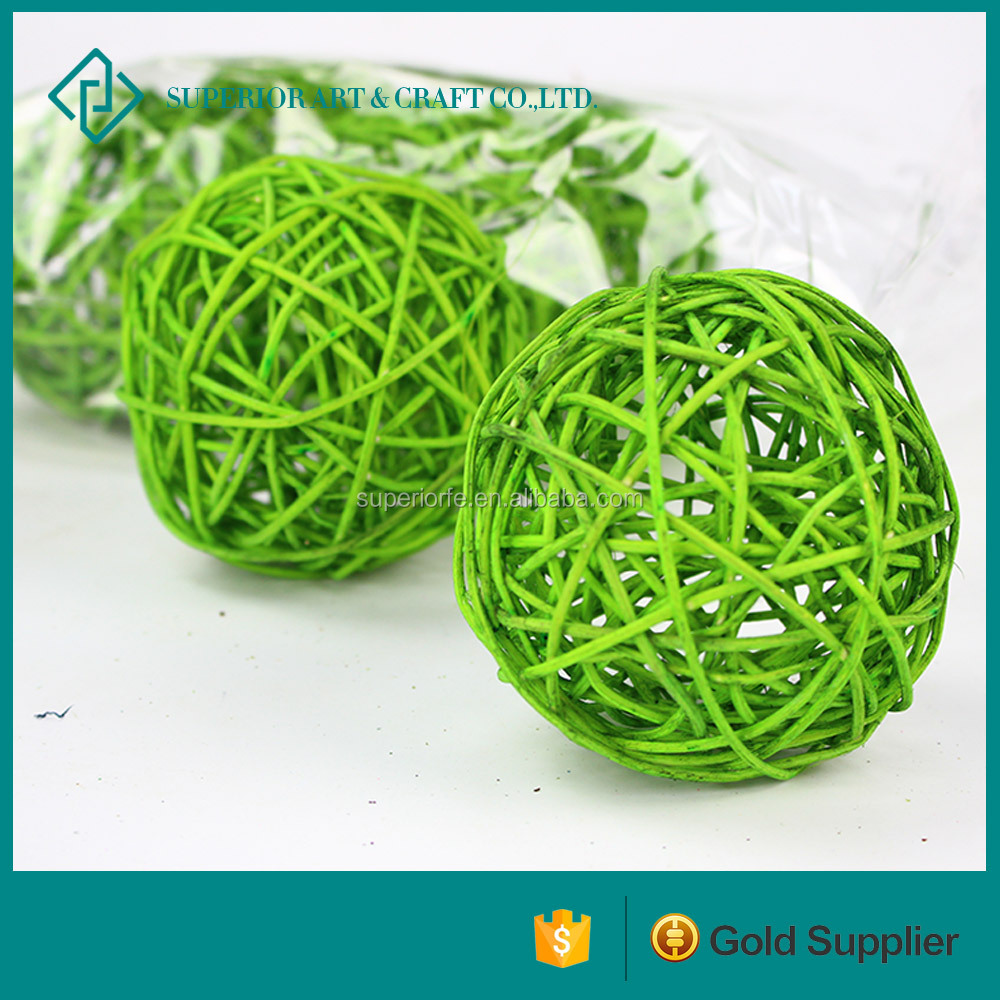 Various colours Decorative Rattan Roll twig ball