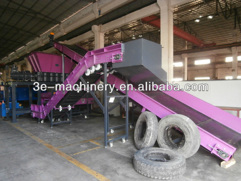 Good Quality of 3E's Waste tyre recycling plant/Tire recycling machine, get CE Marking