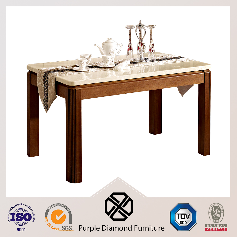 6 seats artificial marble family dining table for dine together