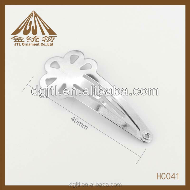 metal carbon steel material fancy hair accessories claw clips