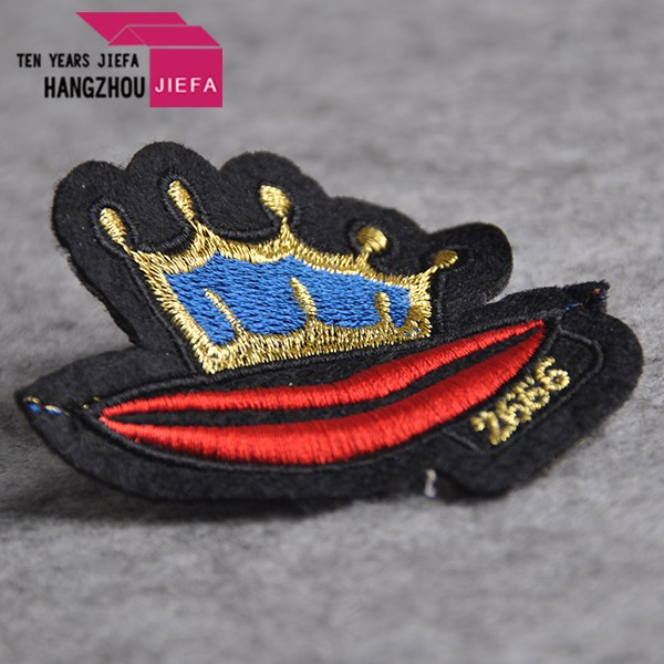 Wholesale adhesive Custom Embroidered emoji woven patch