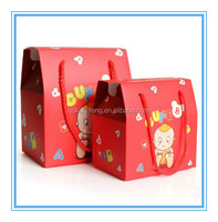 custom printed baby candy and cookies boxes with rope handle