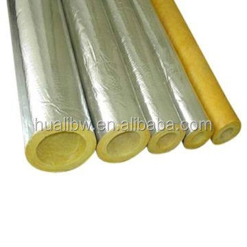 High density Petroleum Platform duct Insulation Glass Fiber Wool Pipe with aluminum foil