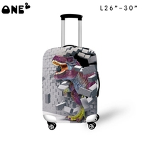 ONE2 latest design cute dinosaur cartoon luggage protective animal cover suitcase for boys
