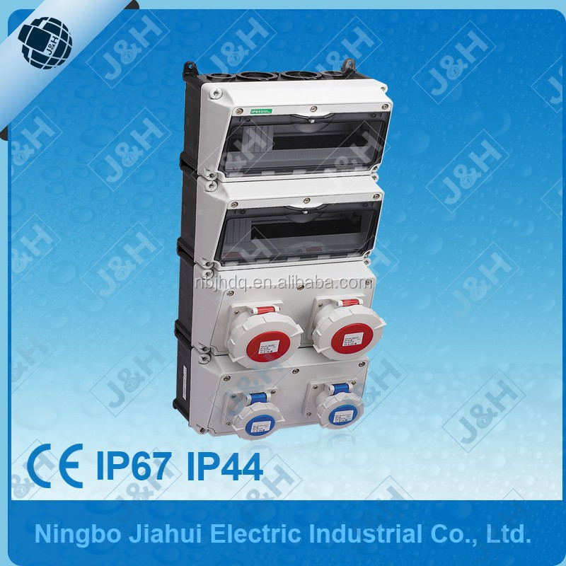 3 phase ce combined socket box, china supply wall panel power board