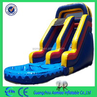 Giant hot selling 0.55mm PVCinflatable stair slide toys, kids slide/used inflatable water slide for sale
