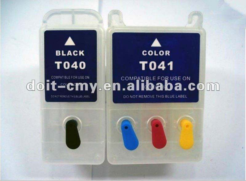 empty refillable ink cartridge for Epson t040 t041