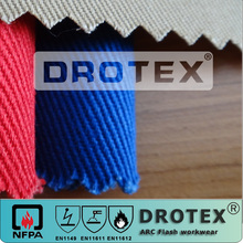 Inherently Fire Resistant Ptotex Modacrylic Cotton Blended FR Antistatic Woven Fabric