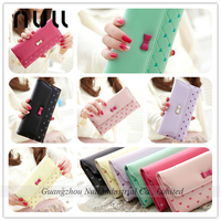 PU leather women hand mobile phone case card holder wallet