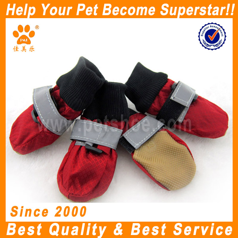 JML hot sale low price protective waterproof pet dog shoes rain bots for medium dogs military boots