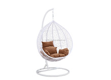 Indoor Sitting Room Outdoor Double Egg Rattan Wicke Hanging Swing Chair