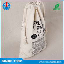 Fugang India Most Popular Customized Cotton Drawstring Bags With Logo