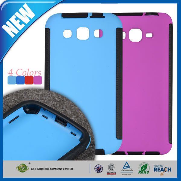 C&T Popular hybrid 2 in 1 combo protective case for samsung galaxy s duos 3