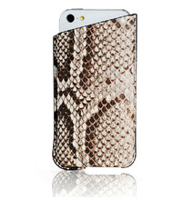 Python Skin Sleeve Case for iphone 5 Snake Skin Leather Case for Apple