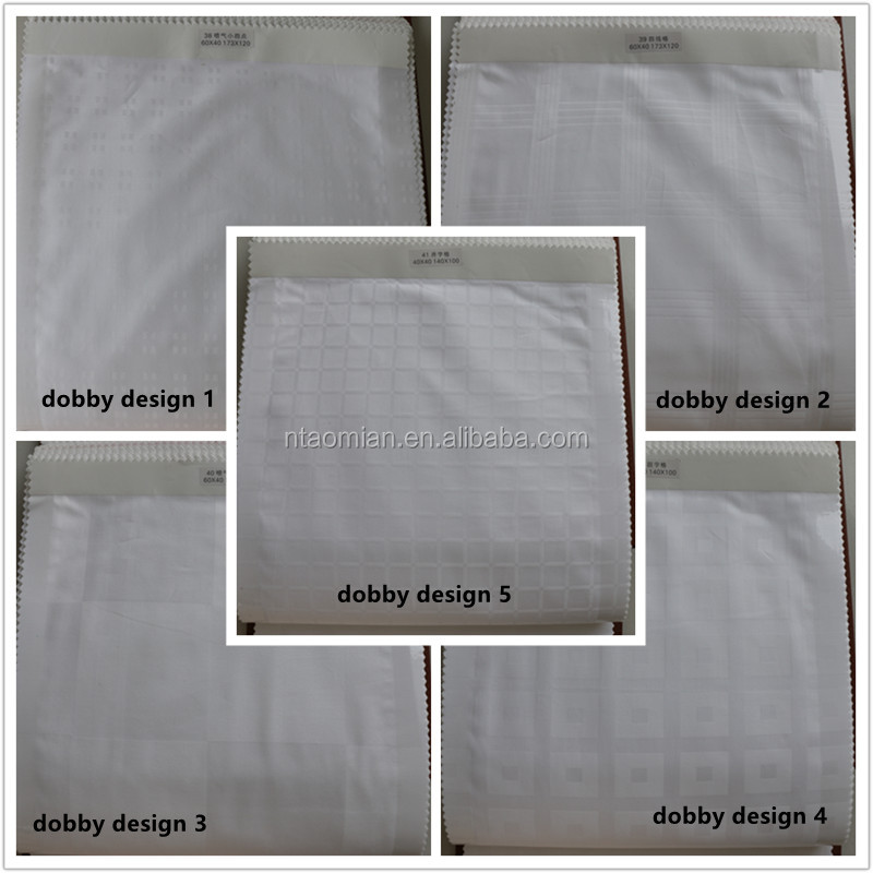 100% cotton dobby check bedding fabric for hotel bed linen