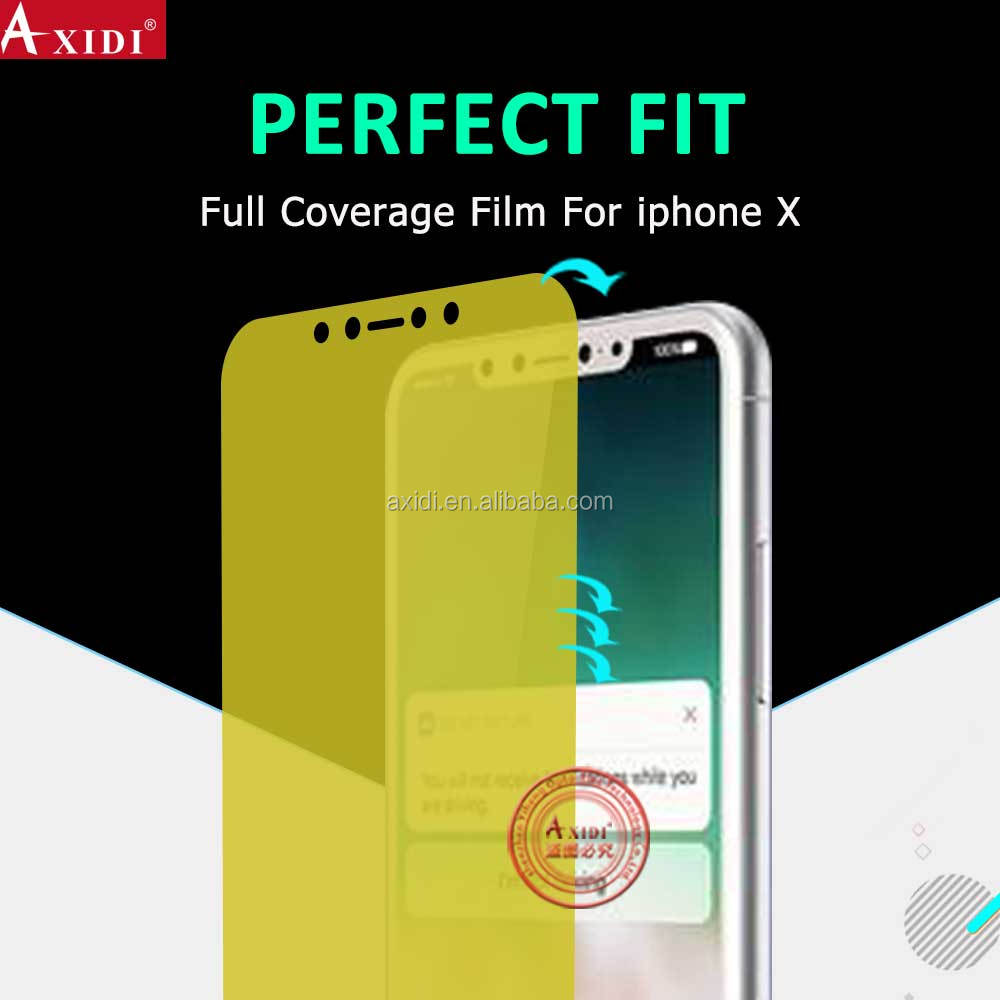 Premium Feel TPU Nanoedge Nano Tech 3D Wholecover Curved Fit Invisible Shield Screen Protector For Iphone X/10/ten