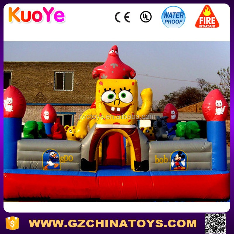 super inflatable spongebob bouncy castle park