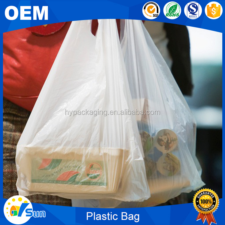 Accept Custom Order PO Material Custom Size T-shirt Shape Plastic Bags For Hat Packaging