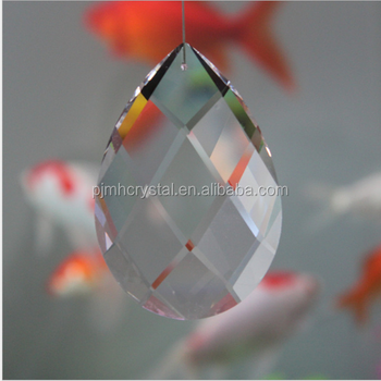 wholesale Crystal chandelier parts full cut hanging glass prism
