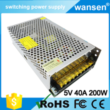 Professional Manufacture Of Universal Regulated 5V 40A unregulated power supply S-200-5 OEM/ODM
