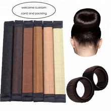 Fast shipment magic bun shaper doughnut hair styling curler hair bun maker