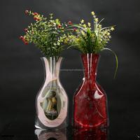 Popular Design Modern clear plastic foldable flower vase