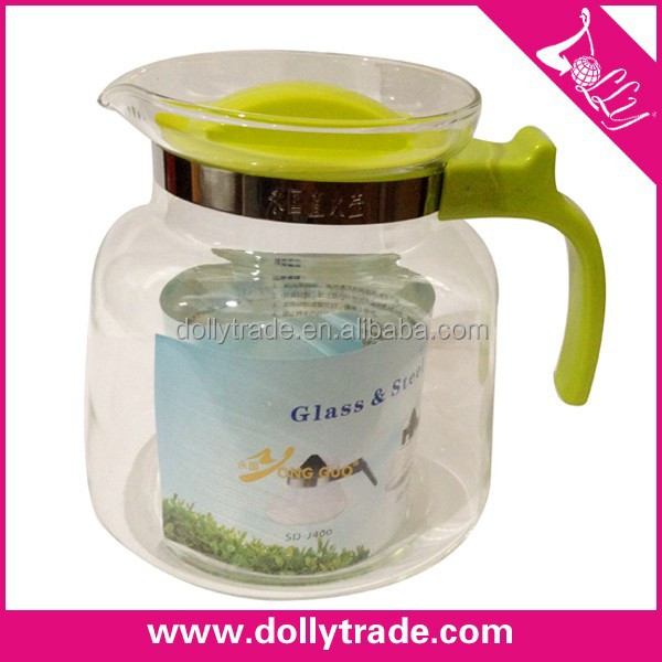 2600ml high temperature resistant clear glass tea pot