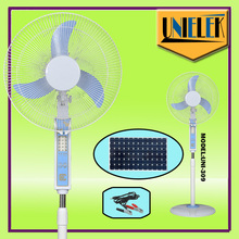 China wholesale solar home appliances 12v dc motor rechargeable battery fan for cooling