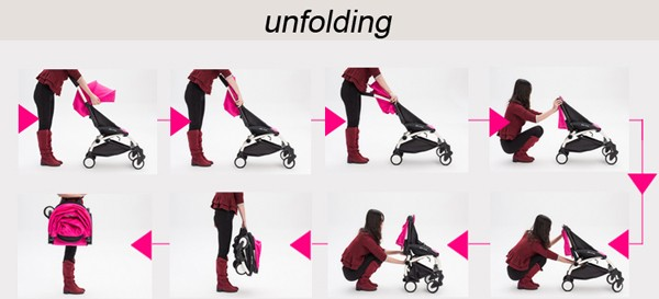 Baby stroller for traveling 1 second to fold and unfold Fashion Mom