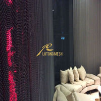 Restaurant decorative hanging metal chain curtain