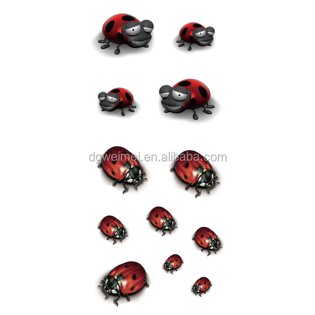 2016 New Ladybird High Quality Water Transfer Waterproof Temporary Tattoo Sticker Body Art Sexy Makeup Colored Drawing