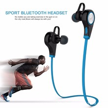 factory supply sport wireless v4.1 wireless mini bluetooth headphone zipper earphone