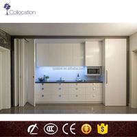 2016 modular for small pecan wood kitchen cabinet from china