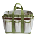 Durable sturdy canvas tote gardening tool bag with muti pockets