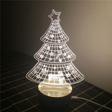Factory direct sale acrylic white led christmas tree decoration stand 2017