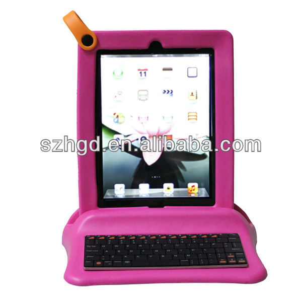 Kid proof EVA 8 inch tablet pc case with keyboard