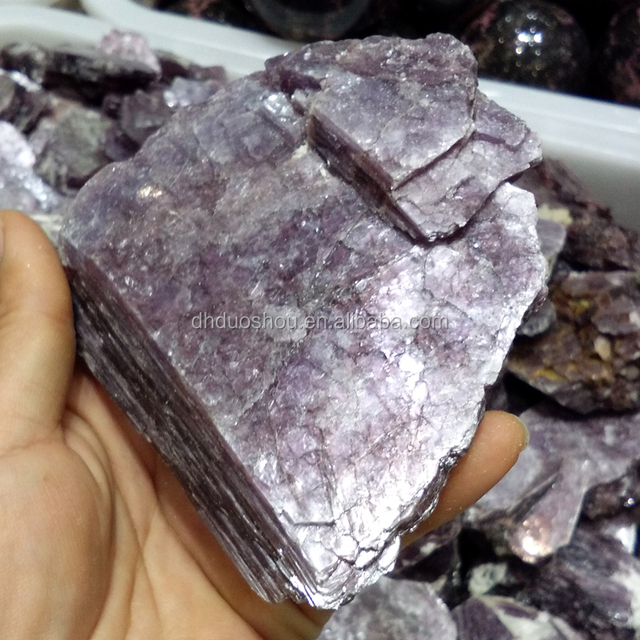 Brazil rough natural purple mica flakes wholesale price raw mineral crystal rock stone