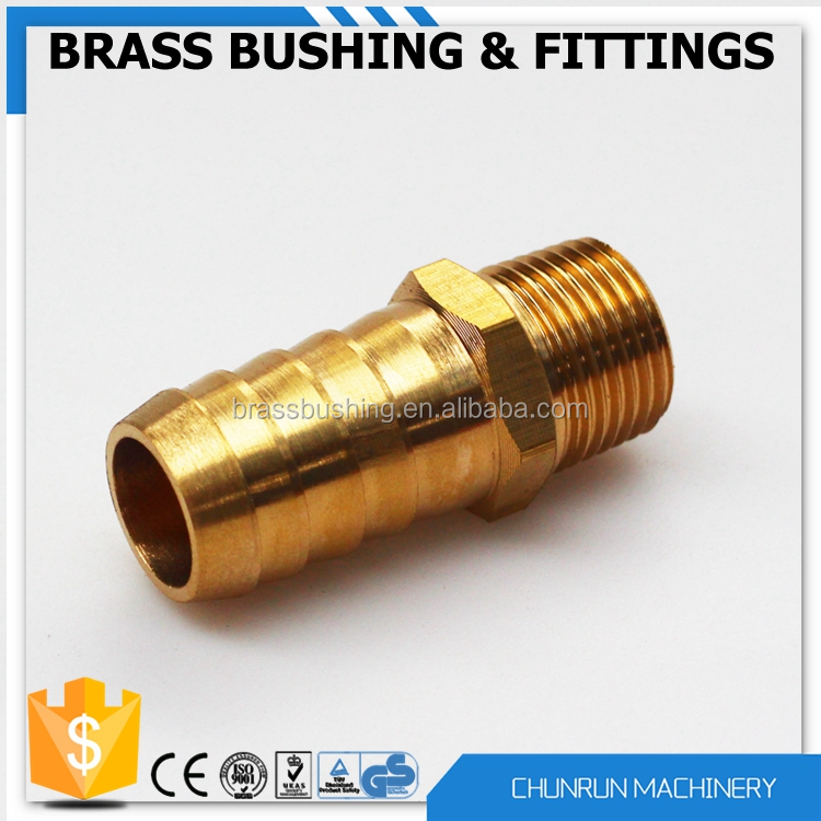 CR-508 low price brass parts copper pipe flare fitting tube connector brass barb hose fitting brass compression pipe fitting