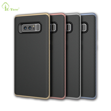 High quality shockproof carbon fiber TPU PC cover case for Samsung Galaxy Note 8