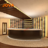 Boutique Circular Lighted Price Small Round 2 Person High Gloss Counter Front Wholesale Office Reception Desk